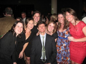 Anne Beyer, Molly Kleinhenz, Peggy Place, Mr. Flipped Tie, Khristine Ambrose, Katie Helldoerfer, Monica Thaler at Johnson-Shock Wedding
