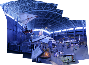 The Space Shuttle hangar from the gangway